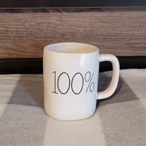 """Rae Dunn Mug """" 100%"""" ☕"""